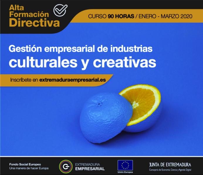 Curso de Gestión Empresarial de Industrias Creativas y Culturales 2020